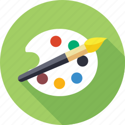 artist, brush, bucket, color bucket, color palette, painting, palette icon