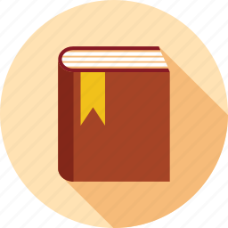 book, knowledge, learning, reading, study, tag on book icon