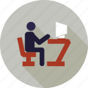 communication, internet, online, user working, web, work in progress icon