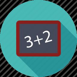 add, addition, black board, board, calc, math, plus icon