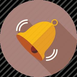 alarm, alert, attention, bell, reminder, ring, warning icon