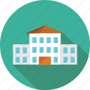 bank, building, business, corporate, hospital, office, school icon