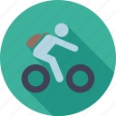 go to school, learn, school, student, student on bicycle icon
