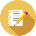 document, edit notes, notebook, notes, paper, sheet, text icon