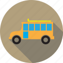 automobile, bus, school bus, transport, transportation, vehicle icon