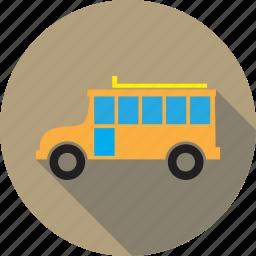 automobile, bus, school bus, transport, transportation, vehicle icon