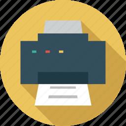 device, document print, hardware, print, printer icon