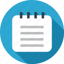file, note book, notebook, notes, paper, sheet, text icon
