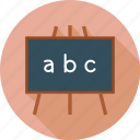 black board, knowledge, learn, study icon