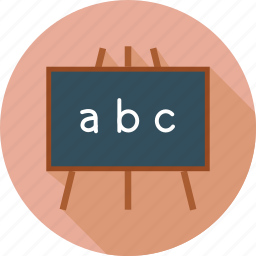 black board, knowledge, learn, study icon
