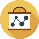 diagram, growth, progress, sharing, statistics icon