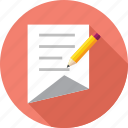 document, edit, notes icon