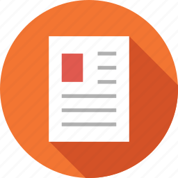 document, file, format, notes icon