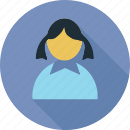 avatar, female, girl, profile icon