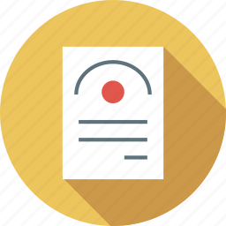 degree, document, format, page icon