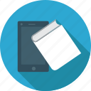 book, book and tablet, mobile, tablet icon