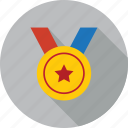 achievement, award, badge, medal, prize, reward, winner icon