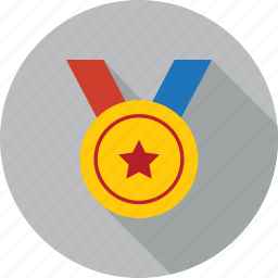 achievement, award, badge, medal, prize, reward, winner icon