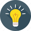 brainstorm, bulb, idea, innovation, light, think, vision icon