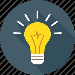 brainstorm, bulb, idea, innovation, light, think, vision icon