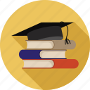 books, bunch of books, collection of books, learning, study icon