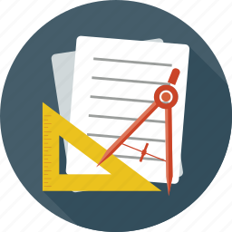 documents, drawing tools, notes, page, paper, settings, tools icon