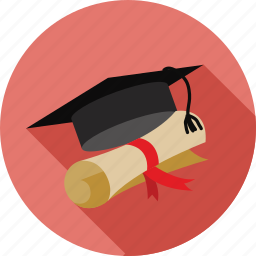 certificate, certification, degree, graduate, graduated, graduation, student icon