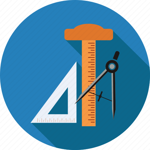configuration, equipment, mathematics, maths, scale, tools icon