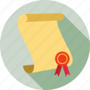 certificate, certification, reward icon