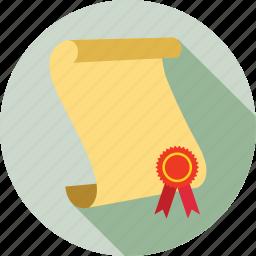 certificate, certification, reward icon