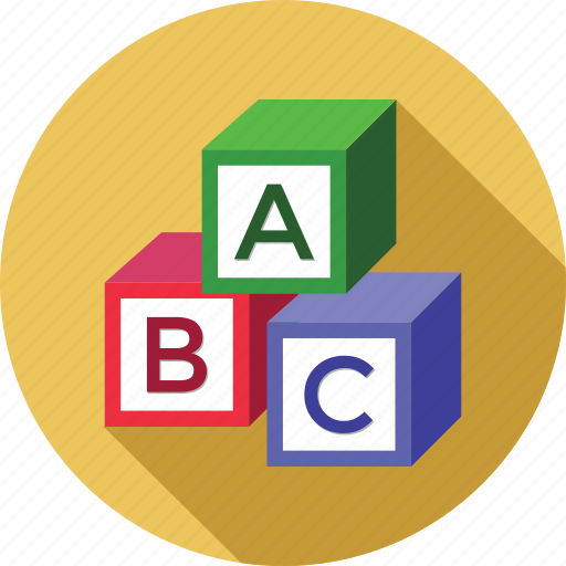 abc, alphabets, blocks, education, study icon