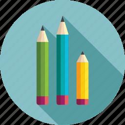 drawing, pencil, pencils, sketch pencils icon