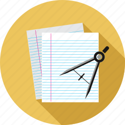 compass, document, notes, pages icon