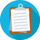 clipboard, notes, papers icon
