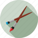 brush, brushes, paint brush icon