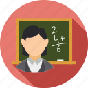 class room, education, study, teacher, teaching, trainer icon