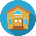 building, library icon