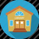 building, library icon