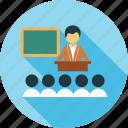 class, classroom, room, spearker, teacher icon