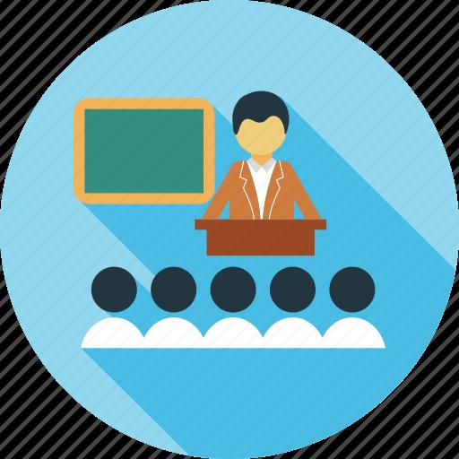 Class, classroom, room, spearker, teacher icon | Icon ...
