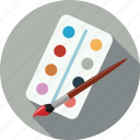 brush, color, color palette, colors, paint brush, palette icon