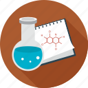 diagram, formula, science icon