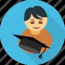 graduate, student, avatar, graduation, user