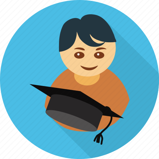 avatar, graduate, graduation, student, user icon