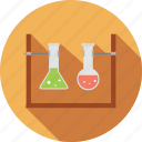 chemistry, experiment, lab, laboratory, research, science, test tubes icon