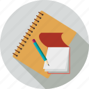 contact book, notebook, notes, pencil, write