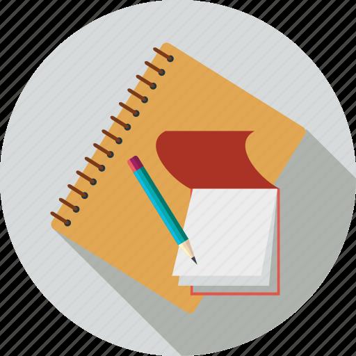contact book, notebook, notes, pencil, write icon