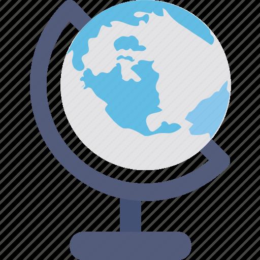 desk globe, geography, globe, school supplies, table globe icon
