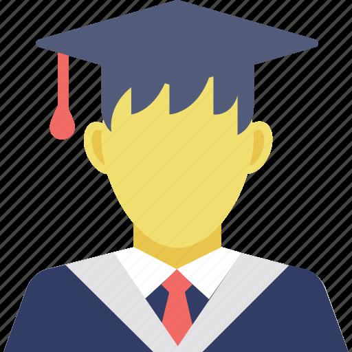 graduate, graduation, postgraduate, scholar, student icon