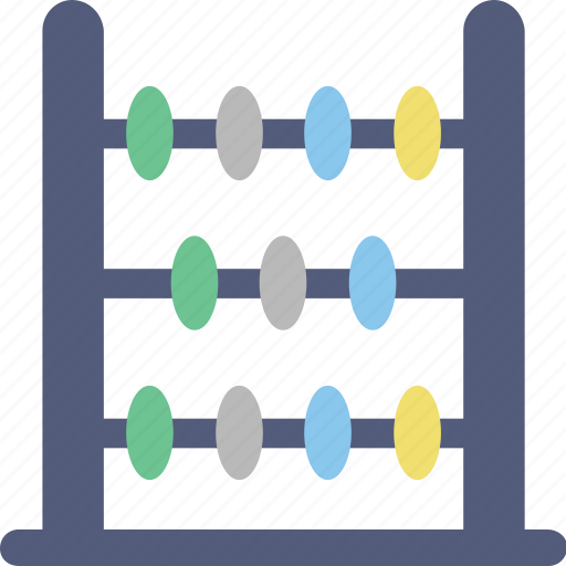 abacus, counting, counting beads, counting frame, maths icon